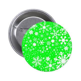 Green Christmas Blast 6 Cm Round Badge