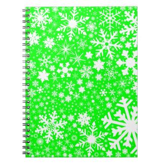 Green Christmas Blast Notebook