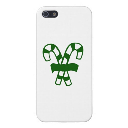Green Christmas Candy Canes Cases For iPhone 5