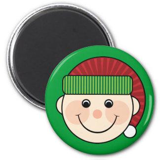 Green Christmas Elf Magnet