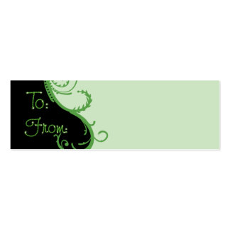 Green Christmas Gift Tag Pack Of Skinny Business Cards