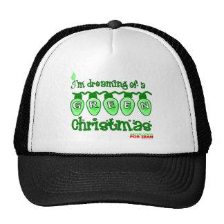Green Christmas Trucker Hats