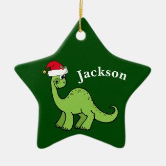 Green Christmas Kids Dinosaur Christmas Ornament