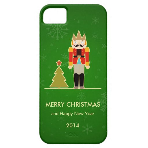 Green Christmas - Nutcracker Holiday Greeting iPhone 5/5S Cases