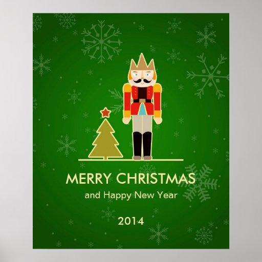 Green Christmas - Nutcracker Holiday Greeting Posters