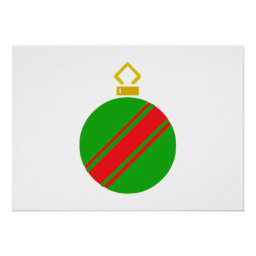 Green Christmas Ornament Posters
