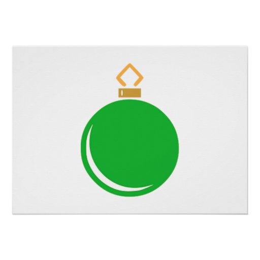 Green Christmas Ornament Print