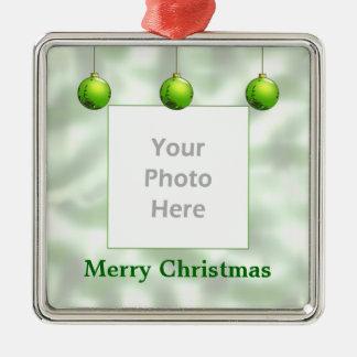 Green Christmas Ornaments (photo frame)