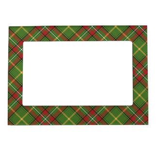 Green Christmas Plaid Frame Magnet
