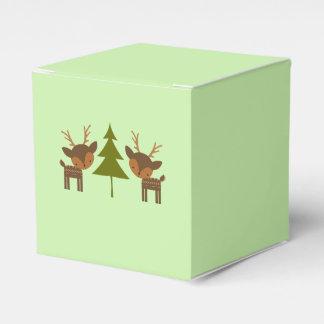 Green Christmas Reindeer Gift Box