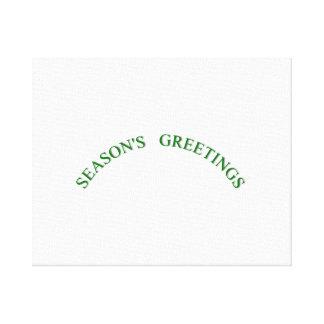 Green Christmas Seasons Greetings Gallery Wrap Canvas