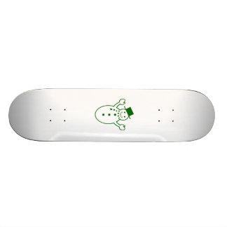 Green Christmas Snowman Skateboard