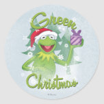 Green Christmas Stickers