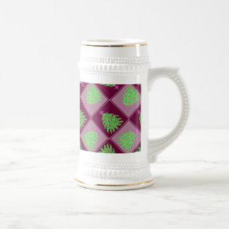 Green Christmas Tree Colorful Holiday Pattern Mug