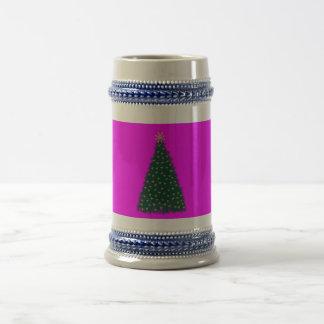 Green Christmas Tree, Gold Running Horses, Pink Mugs