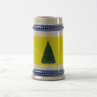 Green Christmas Tree, Gold Running Horses, Yellow Mugs