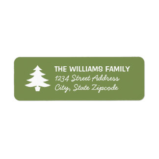 Green Christmas Tree | Holiday Address Labels