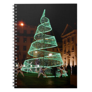 Green Christmas Tree light Notebook
