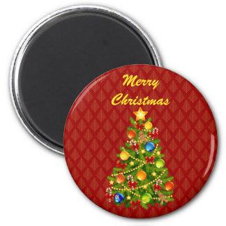 Green Christmas Tree Magnet