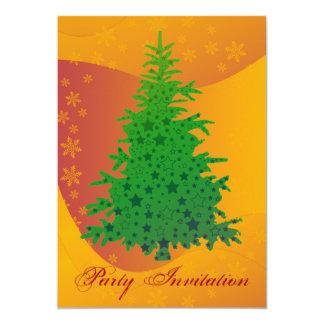 Green Christmas Tree  Party Invitation
