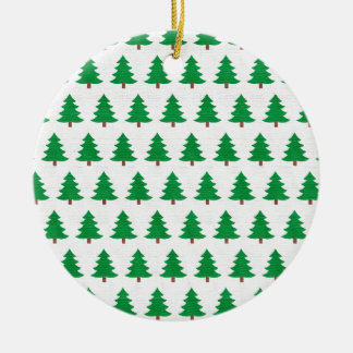 Green Christmas tree pattern, Two sided printing Christmas Ornament