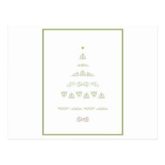 Green Christmas Tree Postcard