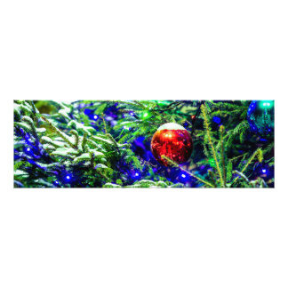Green Christmas Tree Red Ball Photo Print