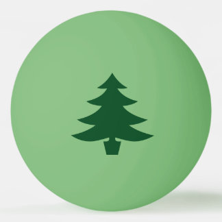 Green Christmas Tree Shape on Green Ping Pong Ball