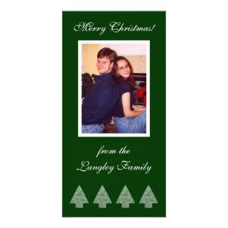 Green Christmas Trees Photo Card