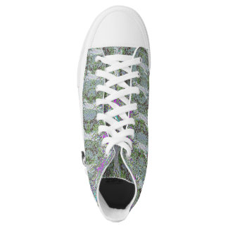 Green Chrome Roses Sneaks Printed Shoes