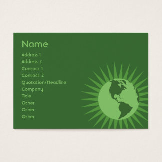 Green - Chubby Business Card