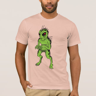 Green Chupacabra with Red Eye Cryptozoology Shirt