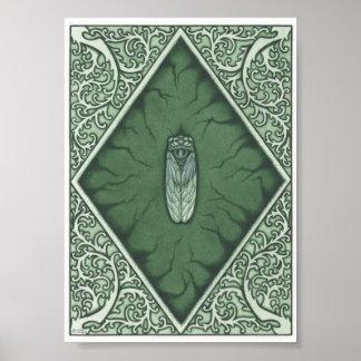 Green Cicada Poster