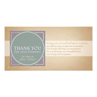 Green Circle P Square Tags Sympathy Thank you P Card