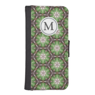 Green Circle Pattern iPhone SE/5/5s Wallet Case
