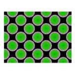 green circle pattern post cards