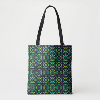 Green Circle Patterned Tote