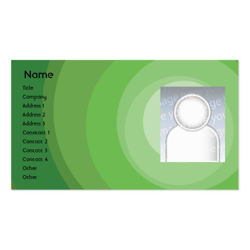 Green Circle Shades - Business Pack Of Standard Business Cards