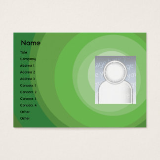 Green Circle Shades - Chubby Business Card