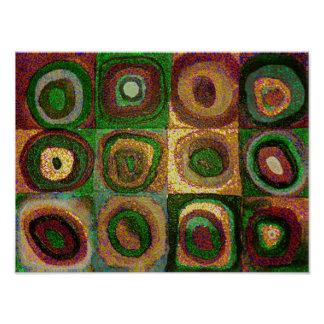 Green Circles Abstract Art Print