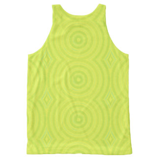 Green circles All-Over print tank top