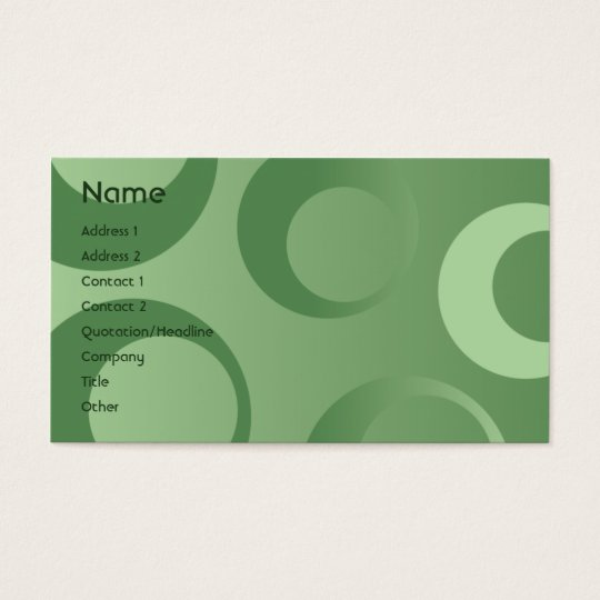 Green Circles - Business Business Card