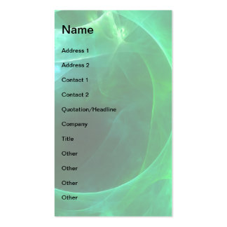 Green Circles Double-Sided Standard Business Cards (Pack Of 100)