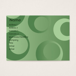 Green Circles - Chubby Business Card