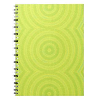 Green circles notebook