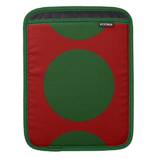 Green Circles on Red iPad Sleeve