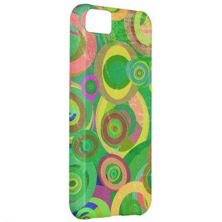 green circles patterns textures iPhone 5C case