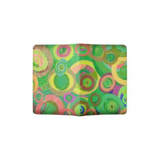 green circles patterns textures passport holder