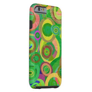 green circles patterns textures tough iPhone 6 case