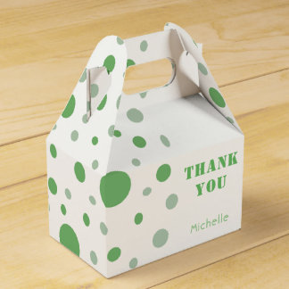 Green Circles Thank you Party Favour Box